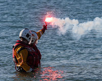 Trearddur Bay Lifeboat crew Stock Images