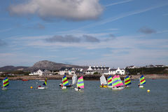 Trearddur Bay sailing Club Stock Image
