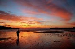 Trearddur Bay Sunset Royalty Free Stock Photos