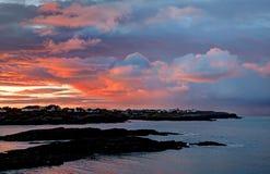 Trearddur Bay Sunset Royalty Free Stock Photography