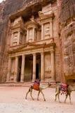 Treasery, Petra, Jordanië Stock Afbeeldingen