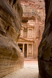 Treasery, Petra, Jordanië Royalty-vrije Stock Foto