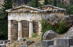 Treasure of the Athenians at Delphi archaeo Royalty Free Stock Photos