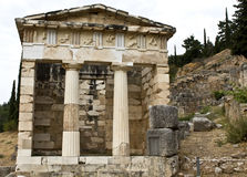 Treasure of the Athenians at Delphi archaeo Royalty Free Stock Photo