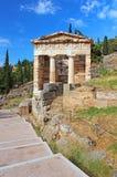 Treasure of the Athenians at Delphi, Greece Stock Photos