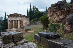 Treasure of the Athenians, Delphi, Greece Royalty Free Stock Image