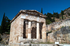 Treasure of the Athenians at Delphi oracle archaeological Royalty Free Stock Photo