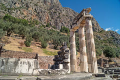Treasure of the Athenians at Delphi oracle Stock Photography