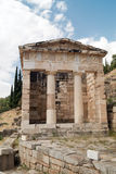 Treasure of the Athenians at Delphi oracle archaeological site Royalty Free Stock Image