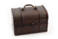 Treasure box. Ornate antique styled treasure box over white background Stock Photos