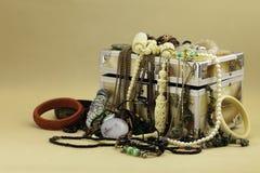 Treasure Box. A jewel box and its contents Royalty Free Stock Photos