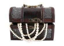 Treasure Box And Pearl Stock Image