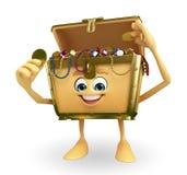 Treasure box character Stock Photography