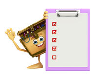 Treasure box character with notepad Stock Images