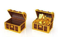 Treasure box. Treasure Chest of two Stock Photos
