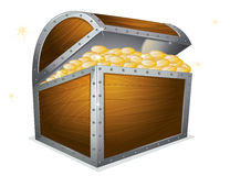 Treasure box. Illustration of a treasure box on a white background Royalty Free Stock Images
