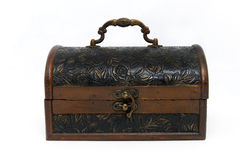 Treasure box, thrunk with isolated background. Royalty Free Stock Images