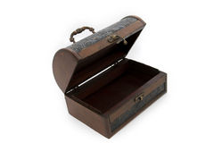 Treasure box, thrunk with isolated background. Royalty Free Stock Image