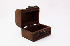 Treasure box. On white background Royalty Free Stock Photos