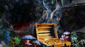 Treasure in the cave Stock Photos