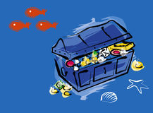 Treasure chest. An illustration of a treasure chest Royalty Free Stock Photography