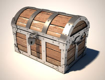 Treasure chest. On the white background Stock Photo