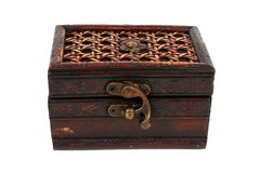 Treasure Chest. Old treasure chest with clipping path Royalty Free Stock Photos