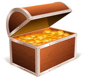 Treasure chest. Royalty Free Stock Photography
