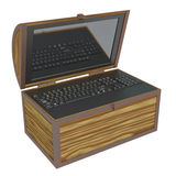Treasure chest. On a white background Stock Photos