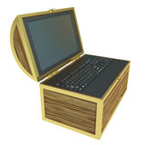 Treasure Chest. On a white background Royalty Free Stock Photography