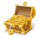 Treasure Chest. Vector illustration of treasure chest on white background