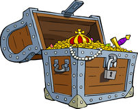 Treasure chest. A treasure chest on a white background vector Stock Image