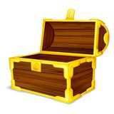 Treasure Chest. Vector illustration of treasure chest against white Royalty Free Stock Photos