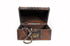 Treasure chest. Isolated on white background Stock Photography
