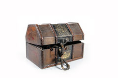 Treasure chest. Isolated on white background Royalty Free Stock Images