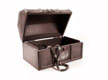 Treasure chest. Isolated on white background Stock Image