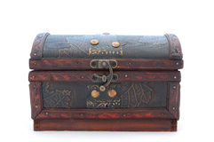 Treasure Chest. On a white background Stock Photography