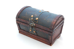 Treasure Chest. On a white background Stock Image