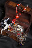 Treasure Chest. Full of Belly Dancing jewelery Stock Photos