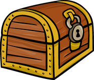 Treasure chest clip art cartoon illustration Royalty Free Stock Photos