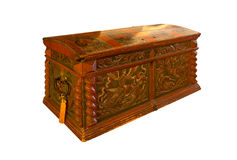 Treasure chest with clipping path Royalty Free Stock Image