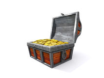 Treasure chest with coin Stock Photography
