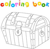 Treasure chest coloring book for kids Stock Images