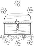 open treasure chest coloring page - treasure chest coloring book for kids stock vector image