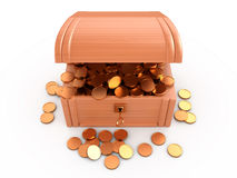 Treasure chest, 3D Royalty Free Stock Image
