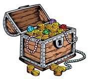 Treasure chest drawing stock illustration