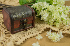 Treasure Chest. A treasure chest with flower Royalty Free Stock Photos