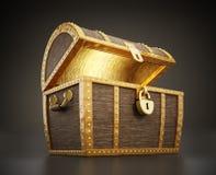Treasure chest full of treasures Stock Images