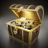 Treasure chest full of treasures Royalty Free Stock Photo