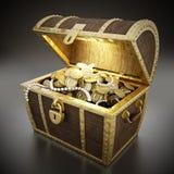 Treasure chest full of treasures Royalty Free Stock Photo